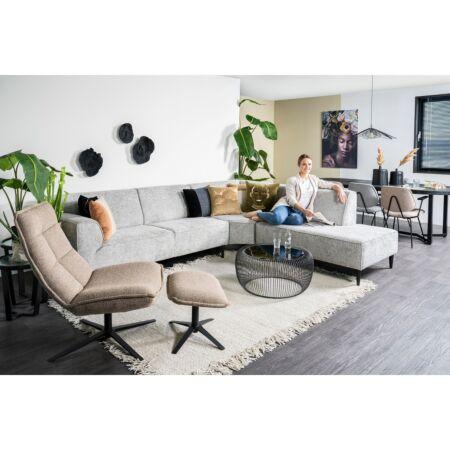 Marcus fauteuil met voetenbank Eleonora - groen baquer