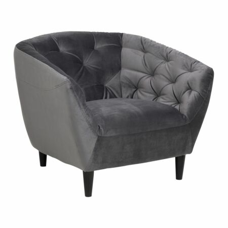 Femme fauteuil Liv donkergrijs