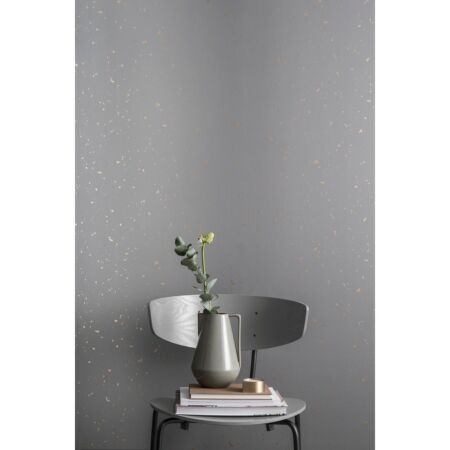 Confetti behang Ferm Living - Grey