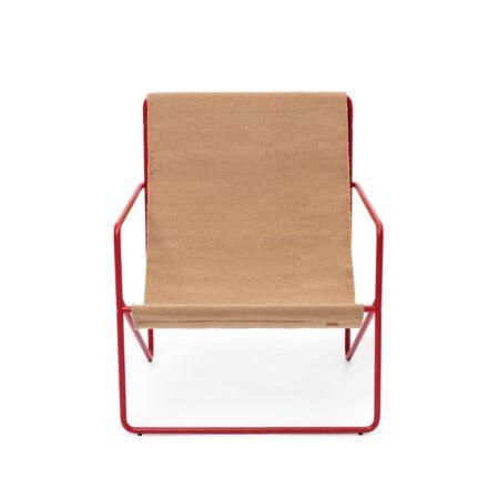 Desert loungestoel Ferm Living rood - Sand