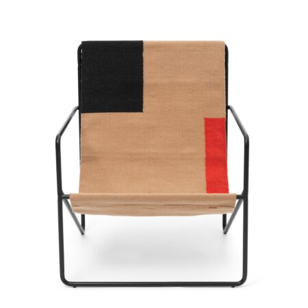 Desert loungestoel Ferm Living zwart - Block