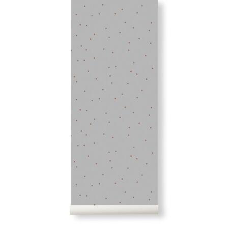 Dot behang Ferm Living - Grey