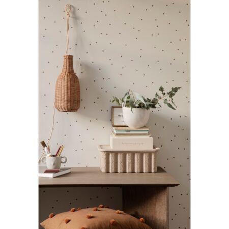 Dot behang Ferm Living - Off White