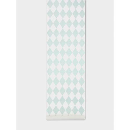 Harlequin behang Ferm Living - Mint