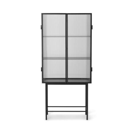 Haze vitrinekast Ferm Living Reeded glas - Zwart