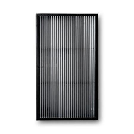 Haze wandkast Ferm Living - Reeded glas - Zwart
