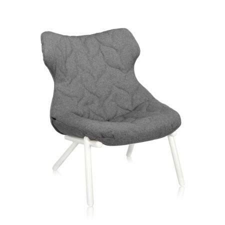 OUTLET - Foliage fauteuil Kartell Trevira wit - grijs