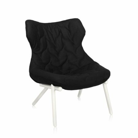 OUTLET - Foliage fauteuil Kartell wit - zwart