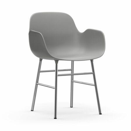 Form Armchair stoel Normann Copenhagen chroom - grijs