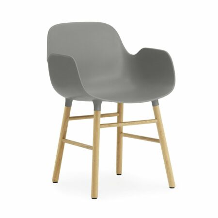 Form Armchair stoel Normann Copenhagen eiken - grijs
