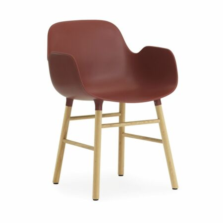 Form Armchair stoel Normann Copenhagen eiken - rood