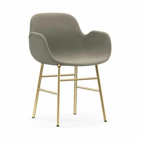 Form Armchair stoel Normann Copenhagen messing - stof beige