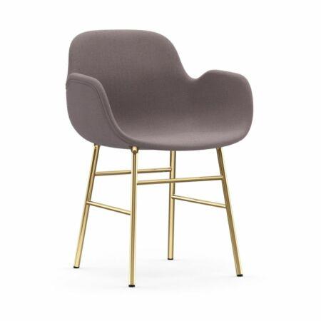 Form Armchair stoel Normann Copenhagen messing - stof gemêleerd