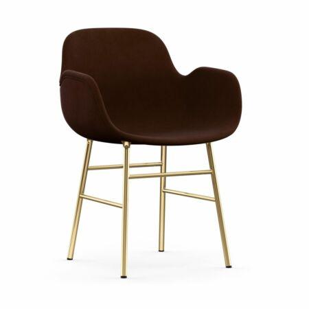 Form Armchair stoel Normann Copenhagen messing - velvet bruin
