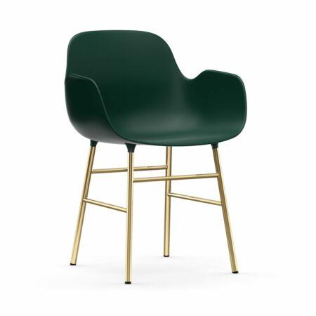 Form Armchair stoel Normann Copenhagen messing - groen