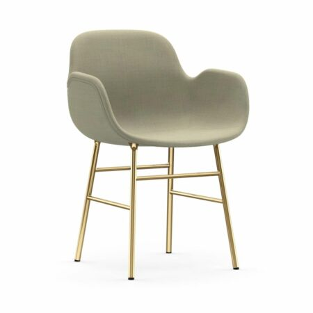 Form Armchair stoel Normann Copenhagen messing - stof lichtbeige