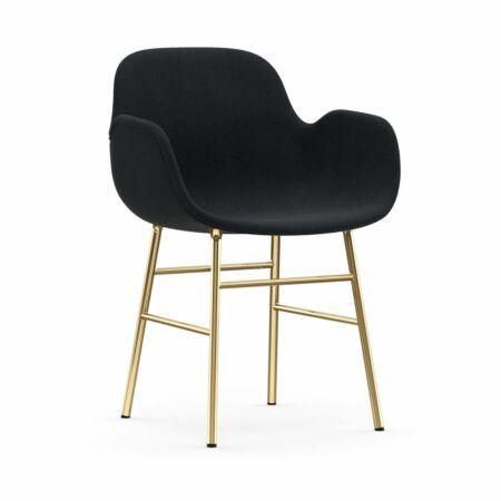 Form Armchair stoel Normann Copenhagen messing - stof antraciet