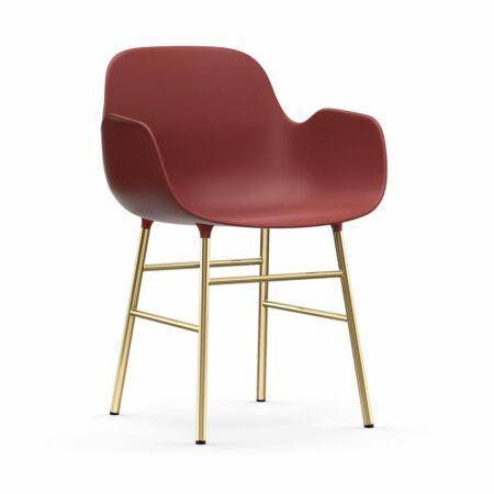 Form Armchair stoel Normann Copenhagen messing - rood