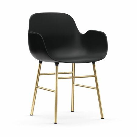 Form Armchair stoel Normann Copenhagen messing - zwart