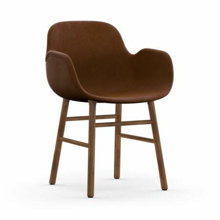 Form Armchair stoel Normann Copenhagen walnoot - velvet bruin