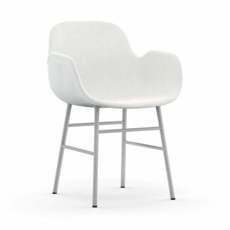 Form Armchair stoel Normann Copenhagen wit - velvet wit
