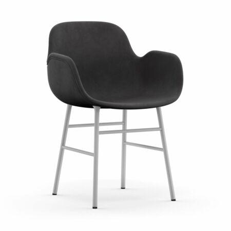 Form Armchair stoel Normann Copenhagen wit - velvet antraciet