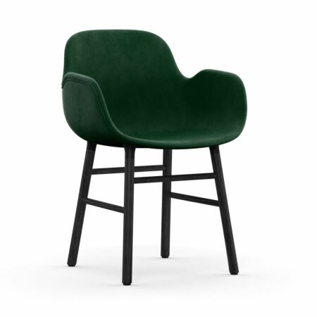 Form Armchair stoel Normann Copenhagen zwart eiken - velvet groen