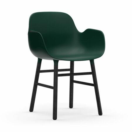 Form Armchair stoel Normann Copenhagen zwart eiken - groen