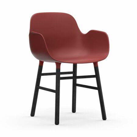Form Armchair stoel Normann Copenhagen zwart eiken - rood
