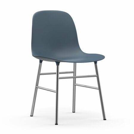 Form eetkamerstoel Normann Copenhagen chroom - blauw