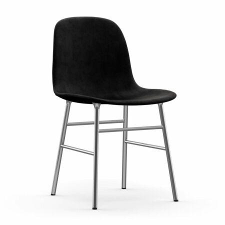 Form eetkamerstoel Normann Copenhagen chroom - velvet zwart