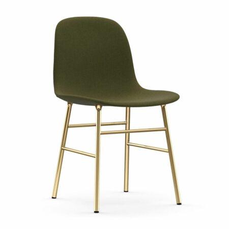 Form eetkamerstoel Normann Copenhagen messing - stof groen