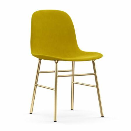 Form eetkamerstoel Normann Copenhagen messing - velvet geel