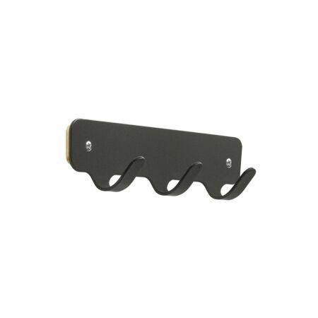 Hooks 3 wandkapstok Functionals zwart