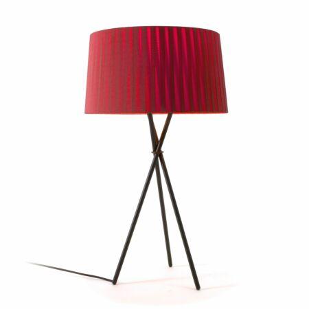 Tripode G6 tafellamp Santa & Cole rood amber