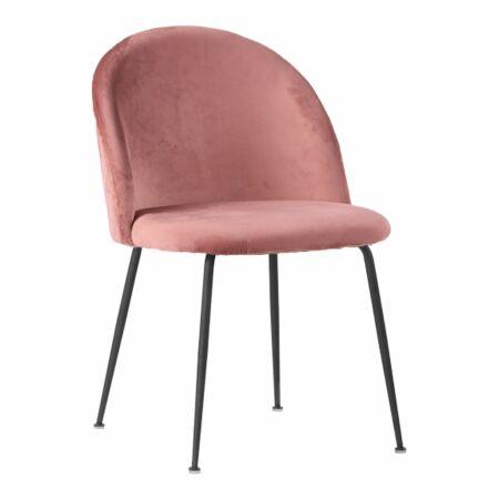 Geneve eetkamerstoel House Nordic roze - zwart
