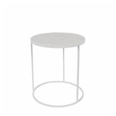 Glazed bijzettafel Zuiver wit