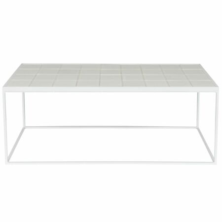 Glazed salontafel Zuiver wit