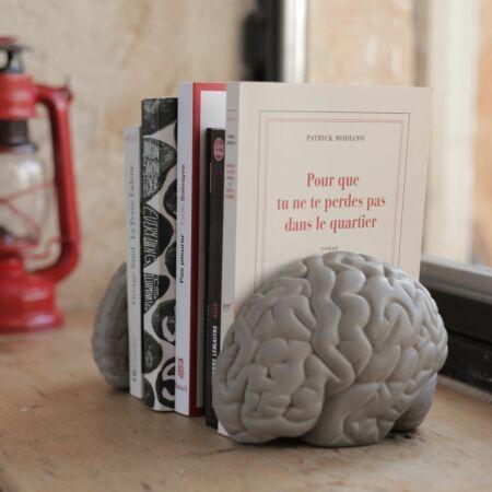 Gray matters boekensteun set Lyon Béton