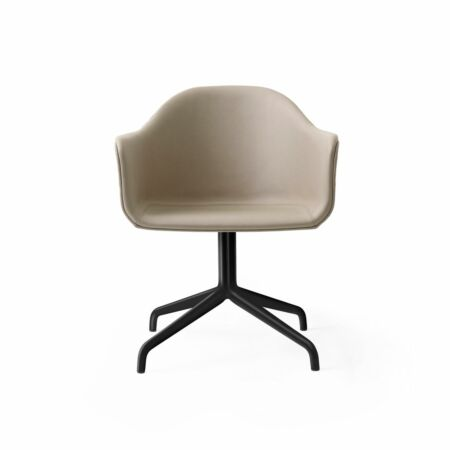 Harbour Swivel eetkamerstoel Menu zwart staal - Nuance Leather