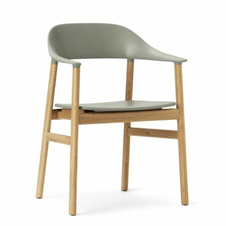 Herit Armchair stoel Normann Copenhagen naturel - groen