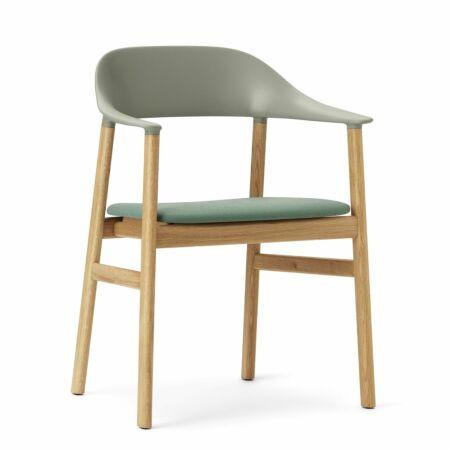 Herit Armchair stoel Normann Copenhagen naturel - stof groen