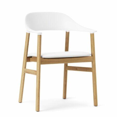 Herit Armchair stoel Normann Copenhagen naturel - leder wit
