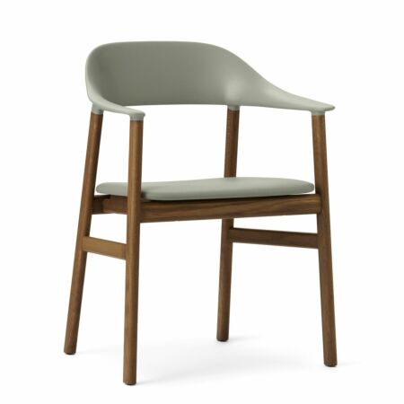 Herit Armchair stoel Normann Copenhagen gerookt - leder groen