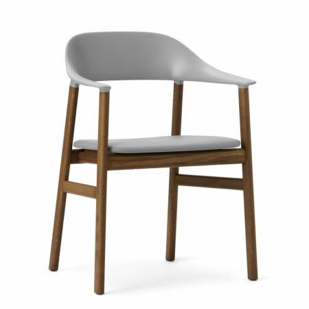 Herit Armchair stoel Normann Copenhagen gerookt - leder grijs
