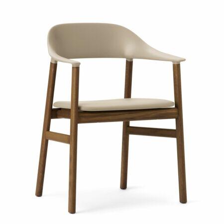 Herit Armchair stoel Normann Copenhagen gerookt - leder zand