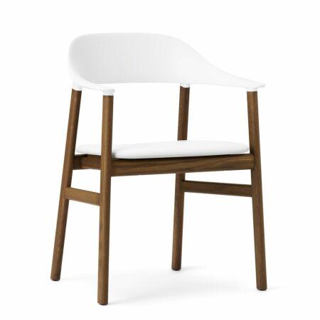 Herit Armchair stoel Normann Copenhagen gerookt - leder wit