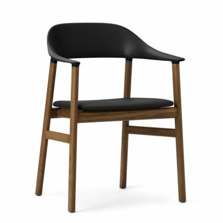 Herit Armchair stoel Normann Copenhagen gerookt - leder zwart