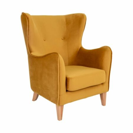 Campo fauteuil House Nordic velvet - mosterdgeel