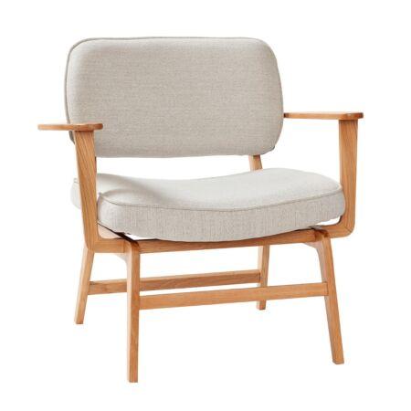 Nicolai fauteuil Hübsch - lichtgrijs